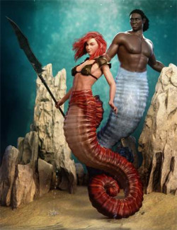 Seahorse Tails for Genesis 8.1 Males and Females