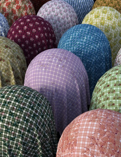 Vintage Tartan Fabric Iray Shaders