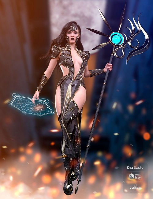 dForce Ember Caller Outfit for Genesis 8 and 8.1 Females