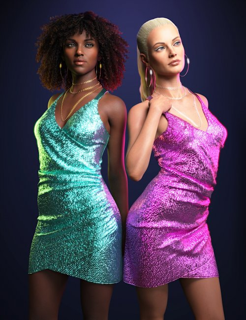 dForce Sparkling Party Dress for Genesis 8 and 8.1 Females