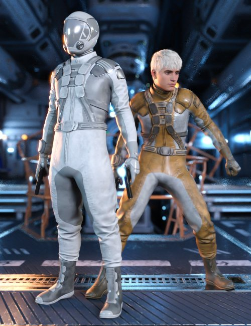 Sci-Fi Gravity Suit Outfit for Genesis 8 and 8.1 Males