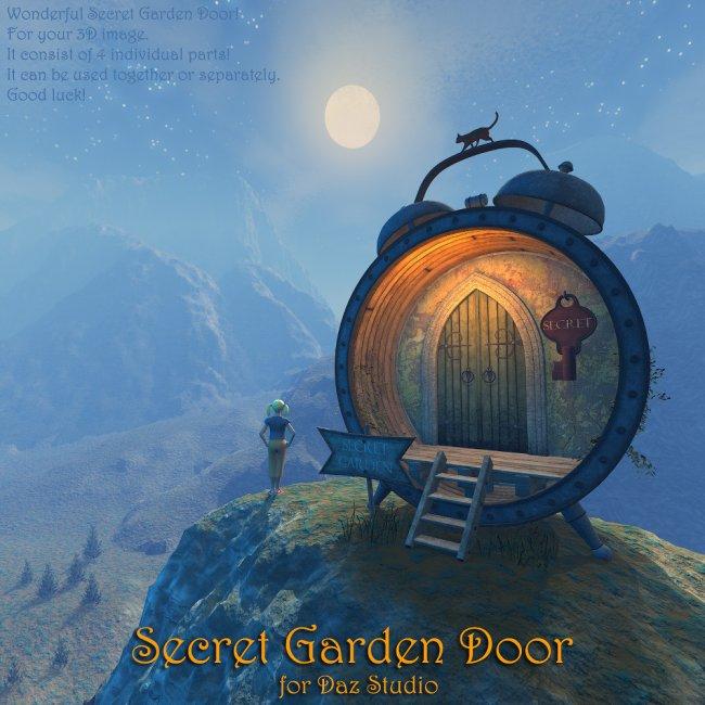 Secret Garden Door for Daz Studio