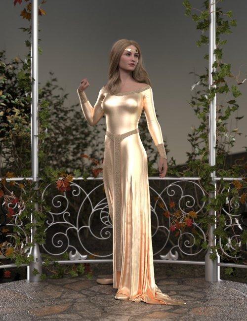dForce Elven Dress for Genesis 8 and 8.1 Females