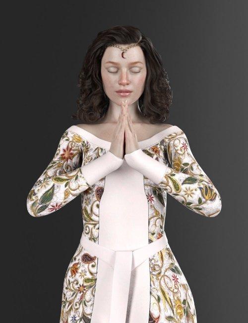 Nobility Textures for dForce Elven Dress