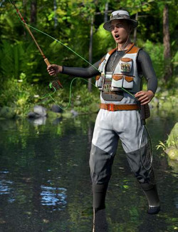 Angler Outfit for Genesis 8 Males