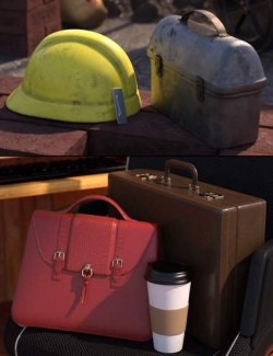 Going to Work Props for Genesis 8 and 8.1