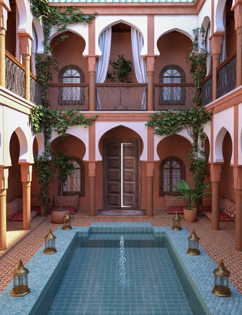Moroccan Courtyard Place