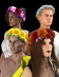 SY Flower Crowns for Genesis 8 and 8.1