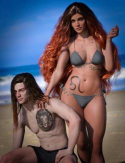 Leo Zodiac Tattoo for Genesis 8.1
