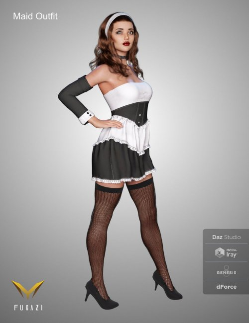 FG Maid Outfit for Genesis 8 Females
