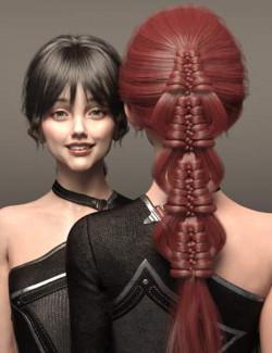 Hui Hair for Genesis 8 and 8.1 Females