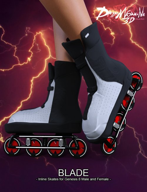 Blade - Inline Skates for Genesis 8 Male and Female
