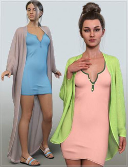 dForce Casual Summer Outfit for Genesis 8 and 8.1 Females