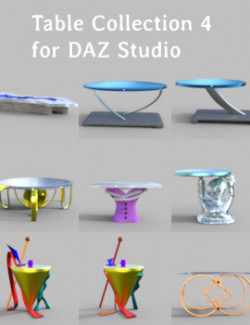 Table Collection 4 for DAZ Studio