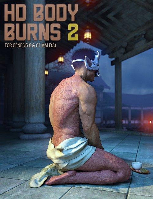 HD BODY BURNS 2 for Genesis 8 & 8.1 Males