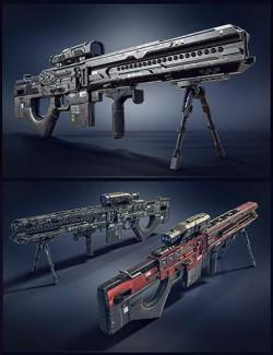 Cyberpunk Droid Sniper Rifle