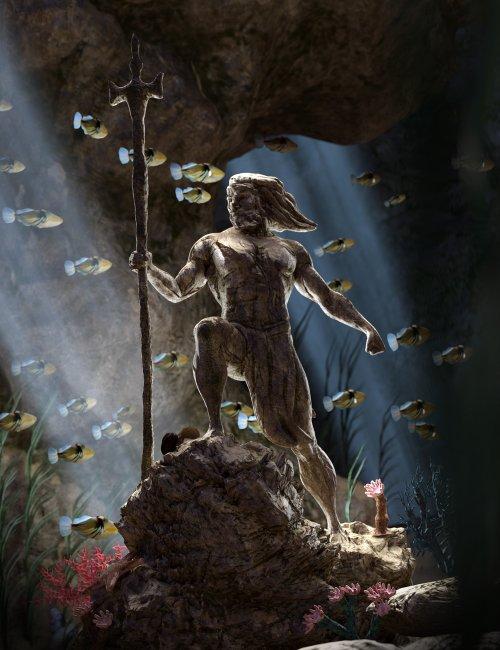Aquatic Fantasy Props And Scene Kit