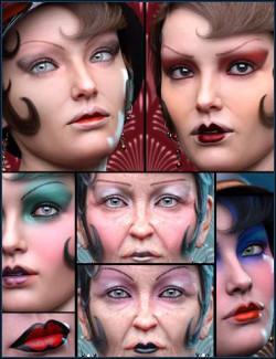 Roaring Twenties Makeup Builder for Genesis 8 Females