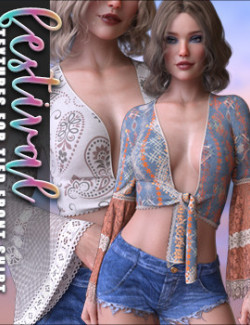 Festival Textures for Front Tied Shirt G8F