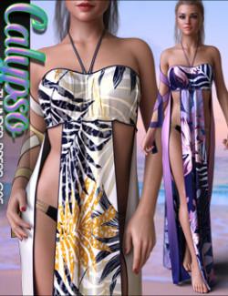 Calypso Textures for dForce Thunder Dress G8F