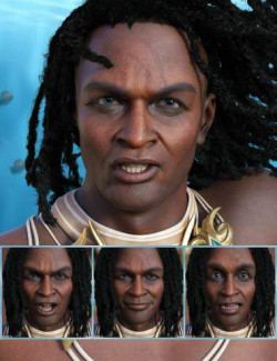 Sea King - Expressions for Genesis 8.1 Male and Zale 8.1