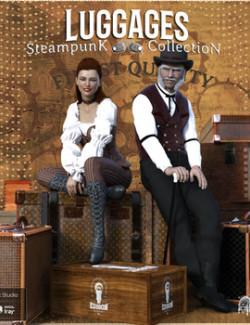 Steampunk Collection Luggages DS