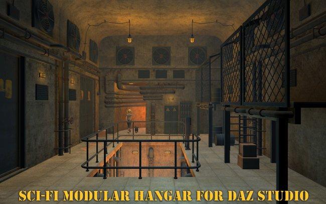 Sci-Fi Modular Hangar for Daz Studio