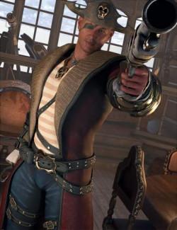 dForce Blaze High Seas Outfit for Genesis 8.1 Males