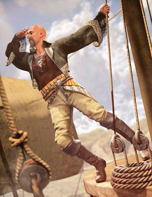 dForce Corsican Raider Outfit for Genesis 8 and 8.1 Males