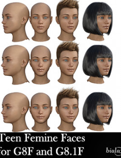Teen Female Faces Morphs for G8F and G8.1F