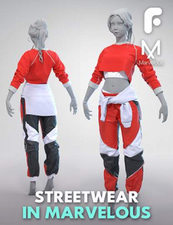 Streetwear Outfit In Marvelous Designer