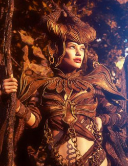 Black Magic Queen Outfit with dForce for Genesis 8 and 8.1 Females