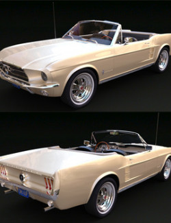 FORD MUSTANG CONVERTIBLE 1967 for DAZ Studio