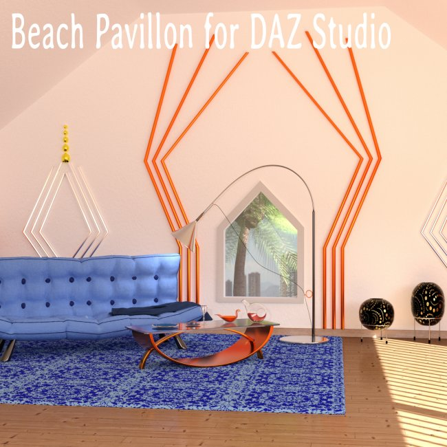Beach Pavillon for DAZ Studio