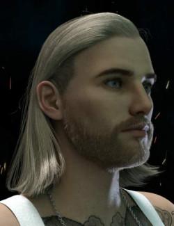 Graig Tough Guy Hair and Beard for Genesis 8.1 Male(s)