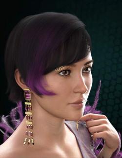 dForce Speakeasy Hair for Genesis 8, 8.1, and 3 Females