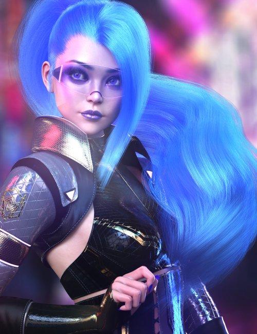dForce Tenebris Hair for Genesis 8.1 Females