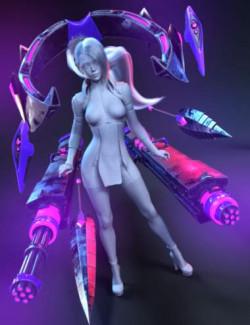 Tenebris Weapons Set for Genesis 8.1 Females