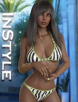 InStyle- dForce Summer Surf N Turf Bikini for Genesis 8 and 8.1 Females