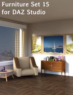 Furniture Set 15 for DAZ Studio