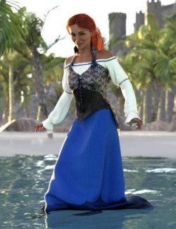 dForce Into the Sea Outfit for Genesis 8 and 8.1 Females