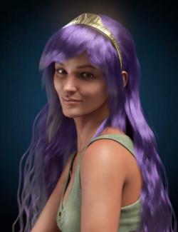 dForce Athena Hair for Genesis 8 and 8.1 Females