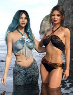 Mermaid Bikini for Genesis 8 and 8.1 Females