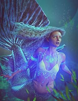 Siren Soul: Bioluminous Tattoos for Genesis 8 and 8.1 Female and Coral 8.1