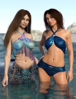 Mermaid Bikini Texture Expansion