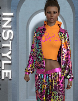 InStyle- dForce Track Suit outfit for Genesis 8 & 8.1 Females