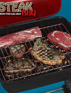 Exnem Steak BBQ Props for DAZ Studio Iray