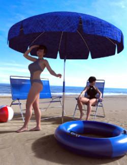 Summer Beach Props for Daz Studio