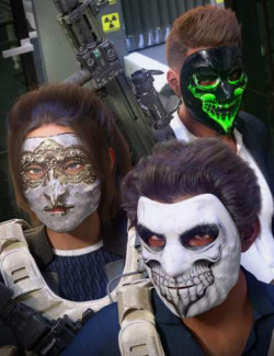 Morphing Heist Masks for Genesis 8.1