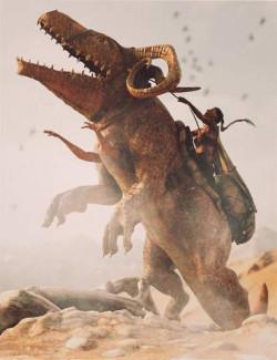 Skalarog Original Creature with Saddlery and Poses